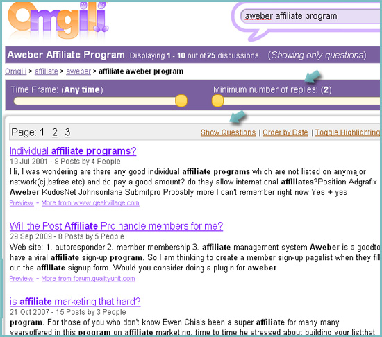 Search for affiliate program reviews: omgili