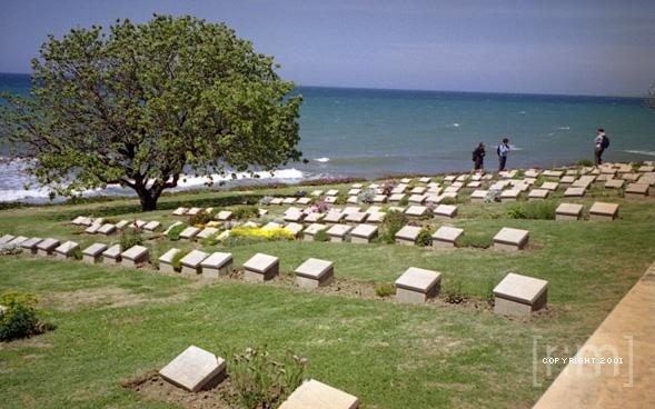 ANZAC Cove Gravestones