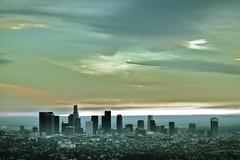 Los Angeles skyline (Andy Kennelly) Tags: california park city blue sky painterly green skyline architecture clouds buildings la los downtown glendale angeles observatory feliz griffith kennelly ajax8055