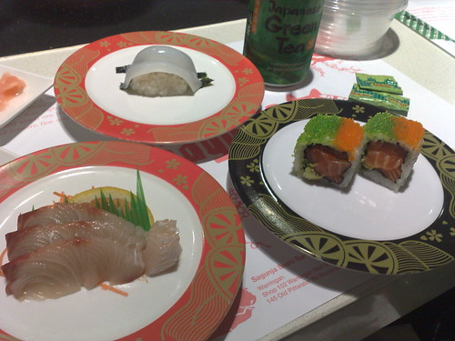 more Sagunja sushi train items