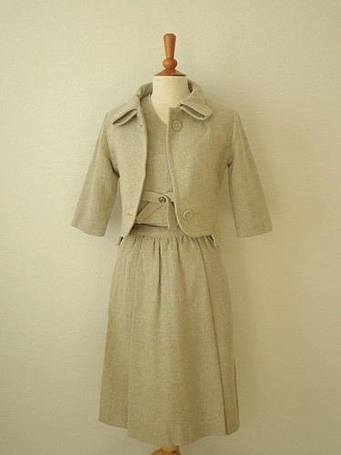 Vintage 1950s 3 Piece Wool Suit