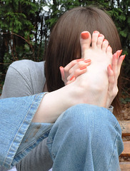 hide (Artistic Feet) Tags: pink cute feet girl asian photography foot model toes pretty skin artistic peach polish pale nails barefoot heels heel soles ankles ubersexy