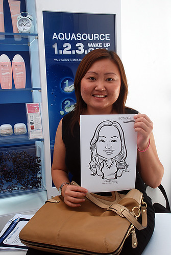 Caricature live sketching for Biotherm Roadshow Loreal - 5