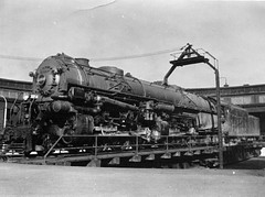 A single expansion 4-cylinder articulated locomotive of the 2-6-6-4 type, probably pretty new at the time.