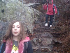 Kids on Keown Falls Stairs