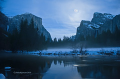 Merced River Moonrise