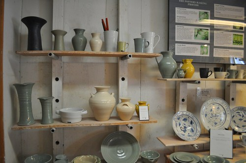 Different Stages of Pottery at Simon Pearce