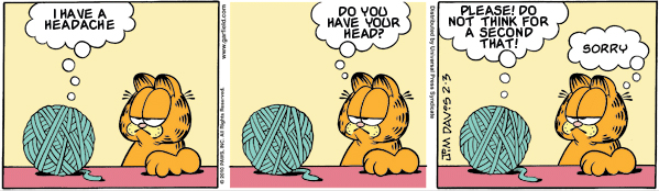 Garfield: Lost in Trnaslation, February 3, 2010