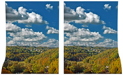Indian Summer 3D (Stereotron) Tags: 3d 3dphoto 3dstereo 3rddimension spatial stereo stereo3d stereophoto stereophotography stereoscopic stereoscopy stereotron threedimensional stereoview stereophotomaker stereophotograph 3dpicture 3dglasses 3dimage crosseye crosseyed crossview xview cross eye squint squinting freeview hyperstereo quietearth europe germany saxony vogtland elstertal bridge brücke elstertalbrücke indiansummer woods trees valley 9590810 sidebyside sbs kreuzblick 100v10f