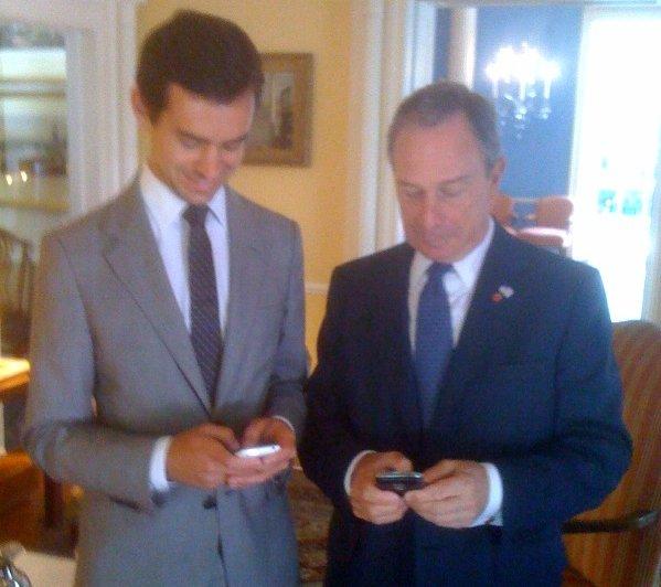 Bloomberg tweets alongside Twitter founder Jack Dorsey (image by ? via Flickr)
