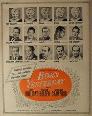 1950s VINTAGE MOVIE POSTER 1950 WILLIAM HOLDEN Broderick Crawford JUDY HOLLIDAY Advertisement BORN YESTERDAY Hollywood (Christian Montone) Tags: cinema comedy romance hollywood 1950s celebrities 1950 vintageads williamholden vintagecinema vintagehollywood vintageadvertisements bornyesterday vintagegraphics vintagemovies judyholliday broderickcrawford vintagemovieposters