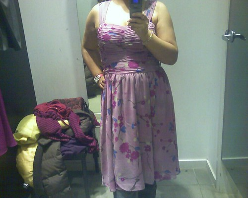 $10 floral dress at H&M. I look like a bouquet of flowery flabs. Haha.
