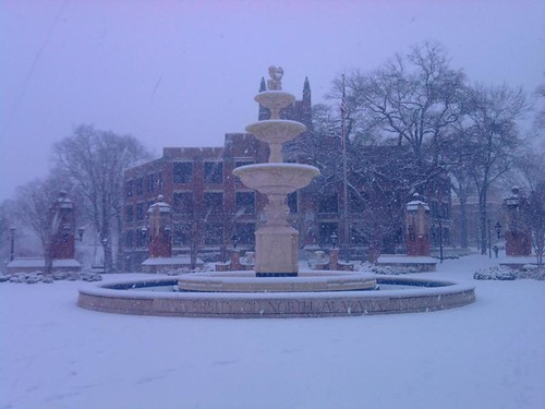 Snow day at UNA in Florence,AL