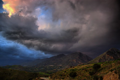 Clouds over mountains (Theophilos) Tags: sky mountains colors clouds view greece crete rethymno