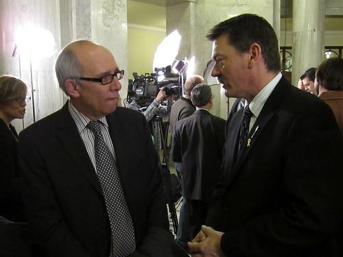 Mayor Stephen Mandel & Minister Doug Horner Budget 2010