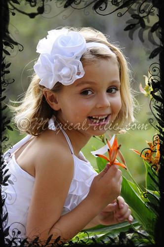 Custom Made to Size Wedding Flower Girl White Tutu and Corset Set