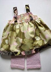 Midwest Modern set - knit capris & knot dress - medium