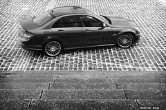 Mercedes C 63 AMG (Niels de Jong) Tags: blackandwhite bw white black canon eos mercedes benz shoot photoshoot zwartwit c sigma 63 pk polarizer zwart wit 18200 v8 62 circular amg pol zw fotoshoot bhp polarisatiefilter c63 nielsdejong 1000d ndjmedia