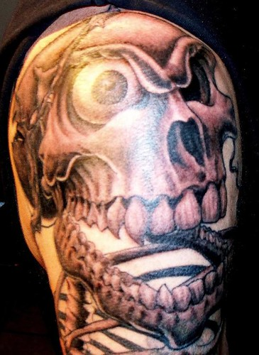 Demented Skeleton Tattoo