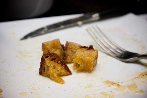 croutons SOAKED