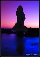 Dominance (Chris Mullins) Tags: ocean seattle sunset coast washington unitedstates pacific olympics olympicnationalpark seastack shishibeach pointofthearches singhray chrismullins goldnblue