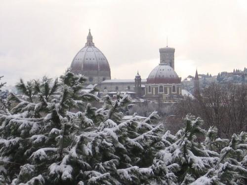 Florencia bajo nieve