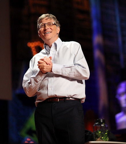 Bill Gates on stage at a conference