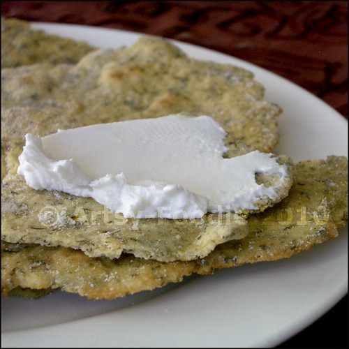 Indian Flatbread with Goat Cheese