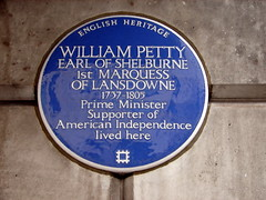Photo of William Petty blue plaque