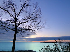 Wake Up And Dream (flipkeat) Tags: morning blue lake ontario beautiful port sunrise landscape outdoors landscapes photos scenic canadian credit mississauga breakwall freighter waterscape ridgetown absolutelystunningscapes