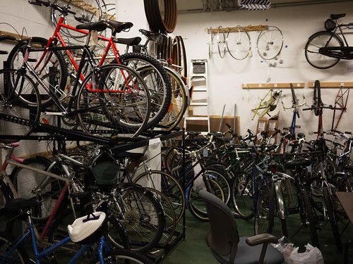 The bike back room