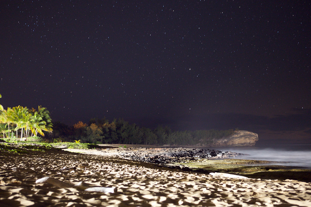 Shipwreck Beach @ Night