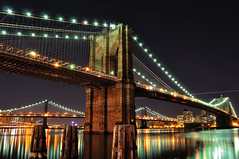 Brooklyn Bridge at Night, NYC (andrew c mace) Tags: nyc longexposure newyork brooklyn night manhattan southstreetseaport brooklynbridge manhattanbridge eastriver williamsburgbridge newyorkatnight nikoncapturenx nikond90