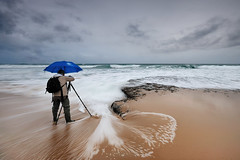 Landscape is Fashion (CResende) Tags: sea storm beach portugal rain umbrella nikon rocks stream magoito d90 sigma1020 chapudechuva photowalker hitechfilters paulodias cresende