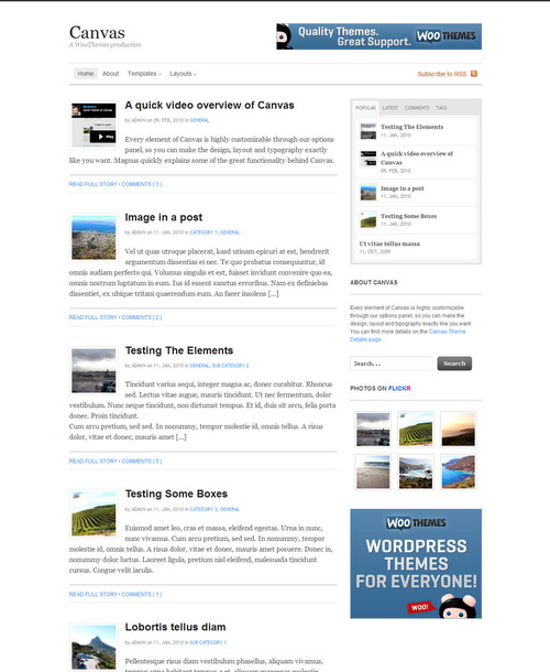 Canvas   WooThemes Wordpress Theme