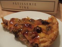 Rhubarb and custard tart from Paul