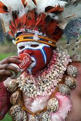 Coke Has Taken Over! (Dave Schreier) Tags: new shells festival dave guinea mt cola feathers coke tribal pop papua hagen coca schreier wwwdlsimagescom