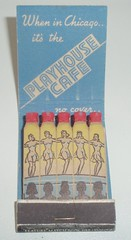 MATCHBOOK THE PLAYHOUSE CHICAGO ILL (ussiwojima) Tags: chicago bar advertising illinois lounge cocktail girlie feature matchbook theplayhouse matchcover