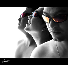 Revealing A Brotherhood. (Tomasito.!) Tags: family blue friends portrait people blackandwhite orange selfportrait men boys necklace nikon brothers philippines earring magenta naturallight monotone shades eyeglasses brotherhood coron jt palawan noriega tomasito d90 nikond90 platinumheartaward