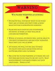 WARNING - We Filter Websites At School! (datruss) Tags: warning education web20 learning teaching filters edtech pairadimes datruss