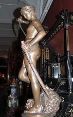 Antonin Mercié - David, bronze statuette, lower left view, Victoria and Albert Museum, London - by ketrin1407