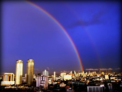 After the Tempest ... | Bangkok Double Rainbow (I Prahin | www.southeastasia-images.com) Tags: city blue colors skyline thailand rainbow bangkok explore doublerainbow rainbowbridge explored