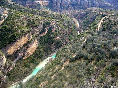Cañón del Río Vero en Alquezar, Huesca (España)
