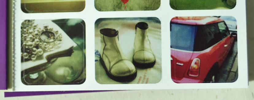 sticker book polaroids