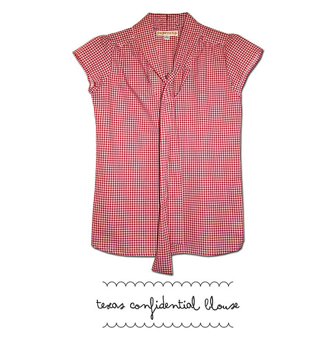 texas confidential blouse gingham