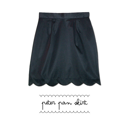 peter pan skirt navy