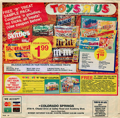 "Toys ""R"" Us - ' COWABUNGA- We've Got it for less!' { Colorado Springs TRU }  Sunday Newspaper supplement .. pg.7 (( October 21,1990 ))"