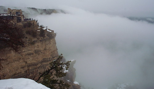 Clouds fill the Canyon