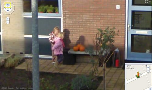 Marit en Elke op StreetView