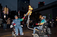 Paralympic torch relay (Eyesplash - There is a change in the air.) Tags: news celebrity set downtown wheelchair host flame torch anchor athletes relay paralympics handoff bctv colleenchristie